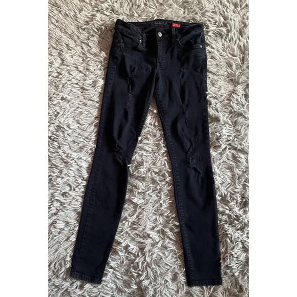 Janice Ultra Skinny Distressed Jeans